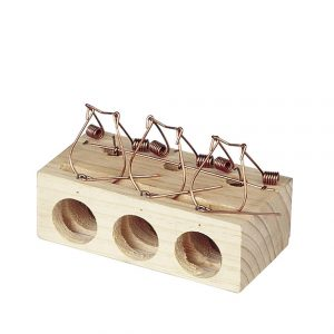 Spring Triggered Loop Mouse Trap – 3 Holes